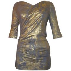 Vivienne Westwood Silver and Gold Laeticia Top (xs)