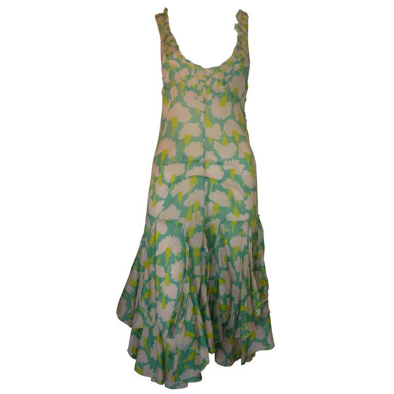 Sonia Rykiel Flower Print Dress  For Sale