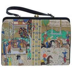 1960s Scenic Persian Handbag