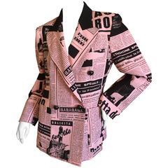 Moschino Couture Newsprint Jacket