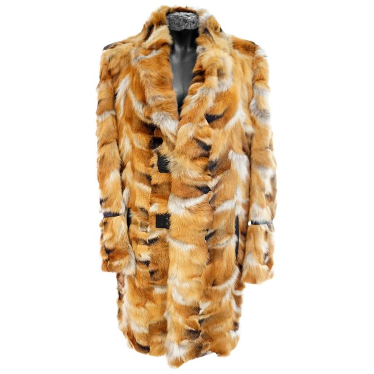 ROBERTO CAVALLI FOX FUR COAT for MEN