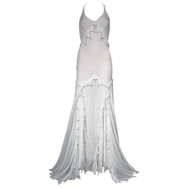 Vintage Roberto Cavalli Embellished Silk Gown