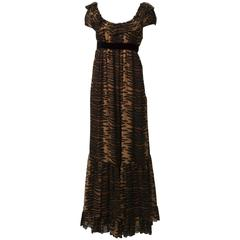 Anne Fogarty  Print Maxi Dress