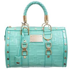"""GIANNI VERSACE COUTURE Quilted Patent Leather """"Snap Out Of It"""" Bag"""