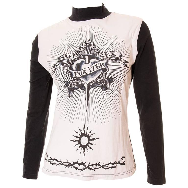 "Jean Paul Gaultier ""Safe Sex Forever"" 1994 Tshirt 1"