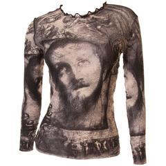 Jean Paul Gaultier Sheer Religious Art Top