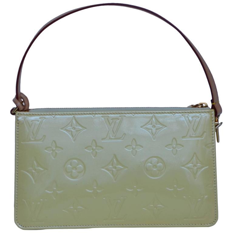 Louis Vuitton Mini Handbag Patent Yellow For Sale