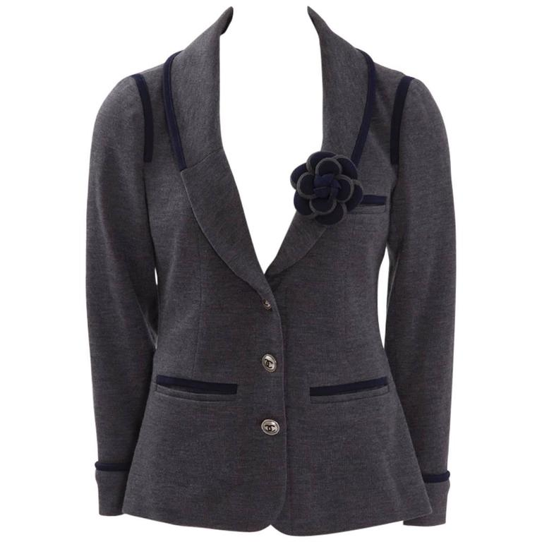 Chanel Sweatshirt Wool Blazer Jacket
