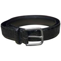 Giorgio Armani Black Alligator Belt