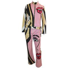 Iceberg Cotton Pop-Art Print Jacket & Pant Set - 44
