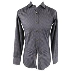ETRO Size S Charcoal Cotton Long Sleeve Shirt