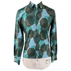 DOLCE & GABBANA Size S Green Cotton Long Sleeve Shirt