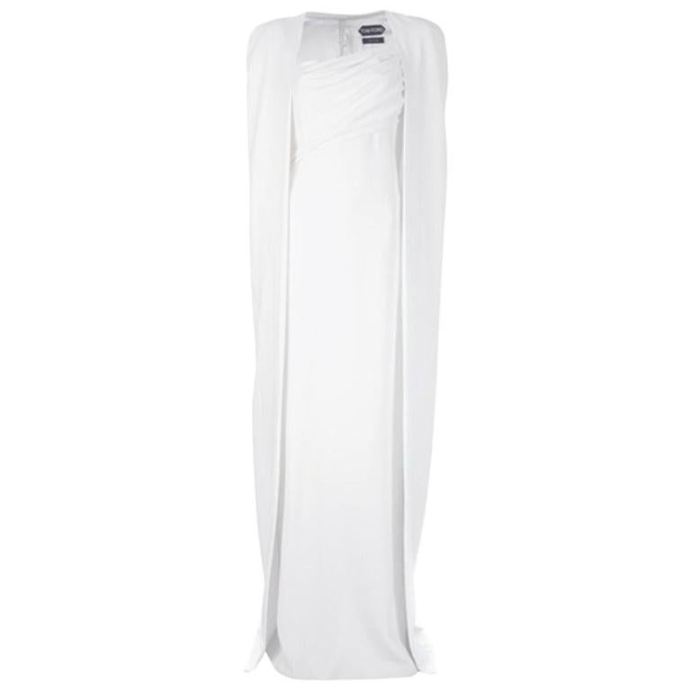 Tom Ford Iconic White Dress with Cape as seen on Gwyneth For Sale