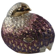 1990's Judith Leiber Bird  with Amethyst Eyes