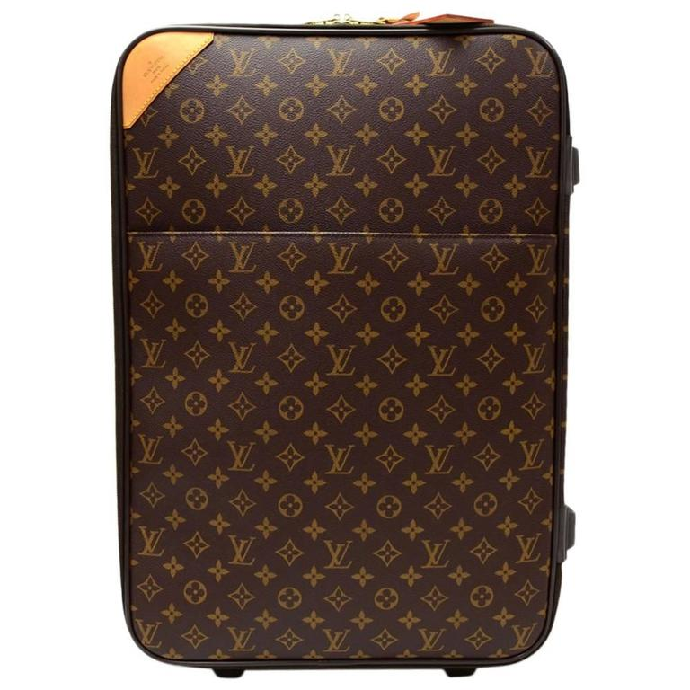 Louis Vuitton Pegase 50 Monogram Canvas Travel Rolling Luggage For Sale