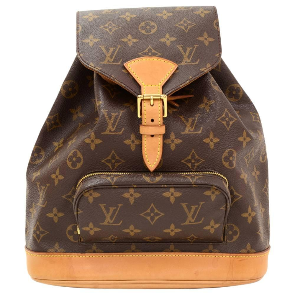 af77c173dc46 Louis Vuitton Moyen Montsouris Mm Monogram Canvas Backpack Bag At