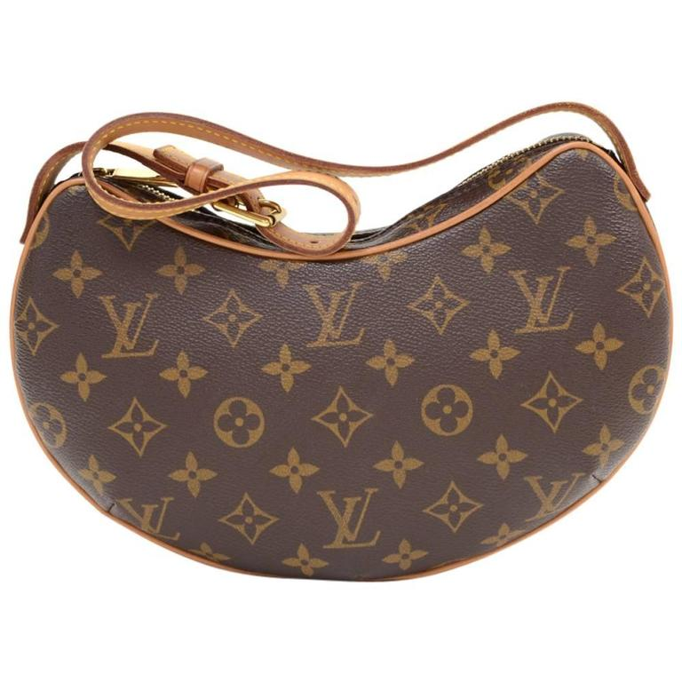 Louis Vuitton Pochette Croissant Monogram Canvas Shoulder Handbag For Sale