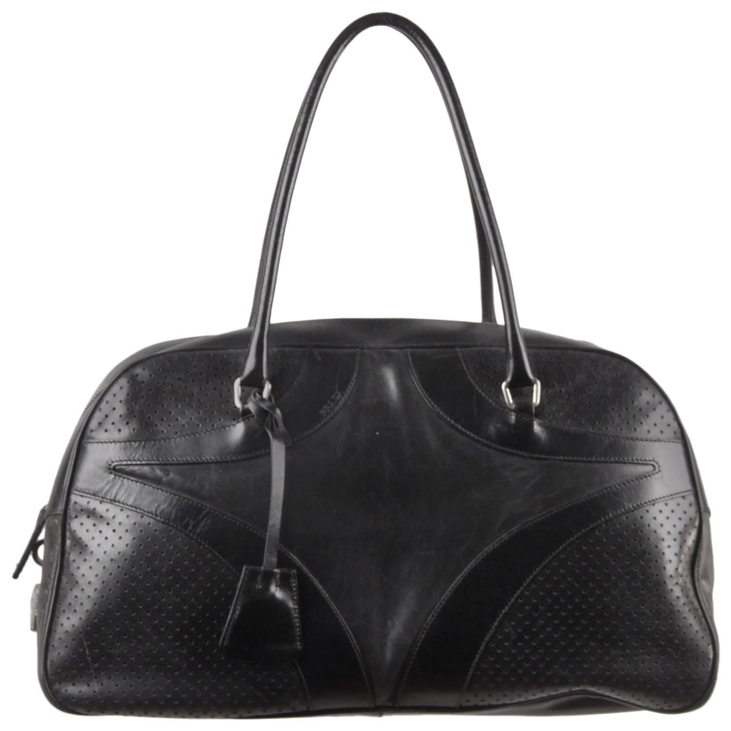 prada ostrich leather handbag