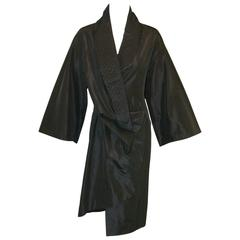 "F/W 2000 ""Eshu"" Alexander McQueen Black Woven Collar Kimono Jacket"