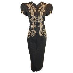 S/S 1996 Runway Givenchy Couture by John Galliano Bavarian Sheath Dress 42