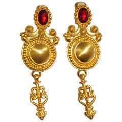 Fabulous Gianfranco Ferre Clip-on Statement Earrings