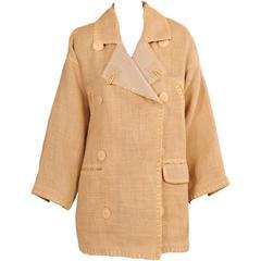 "Jean Charles de Castelbajac Linen ""Burlap"" Jacket"