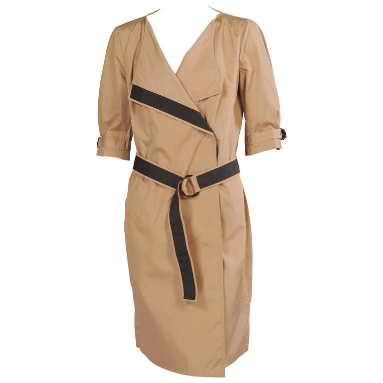 Akris Punto Khaki Cotton Day Dress