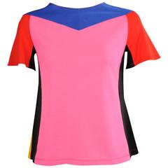 Stephen Burrows Color Block Top