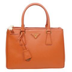 prada canvas & saffiano cuir satchel - Vintage Prada Tote Bags - 28 For Sale at 1stdibs