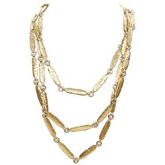 Chanel Vintage Golden Link Necklace