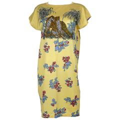 Hermes Vintage Cotton Tunic with Animal and Floral Print