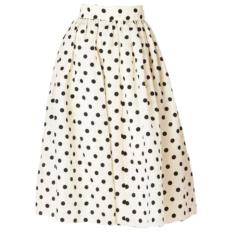 Valentino Organza Polka Dot Skirt  For Sale