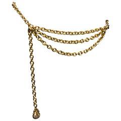 1980's Judith Leiber Gold Tone Chain Link Belt