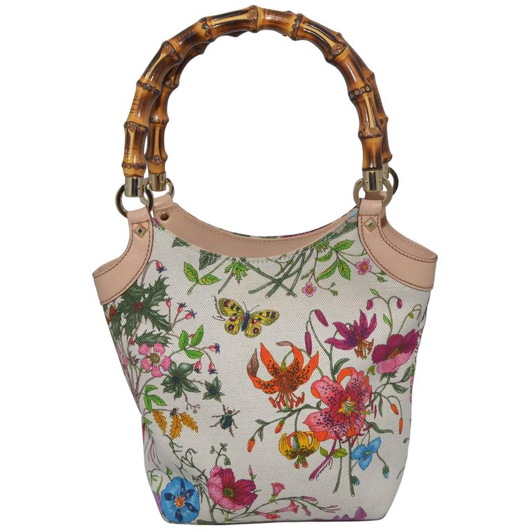 Gucci Vintage Blooms Bag with Bamboo Handle 1