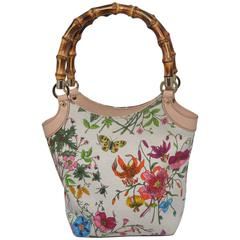 Gucci Vintage Blooms Bag with Bamboo Handle