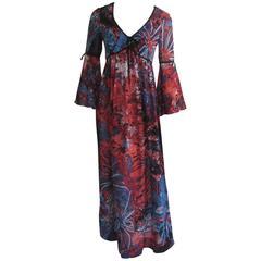 1960s colin Glascoe Maxi Peasant Dress