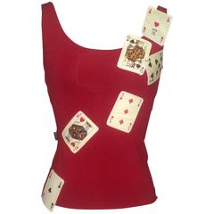 Moschino Jeans 1990s Red Cards Tank Top
