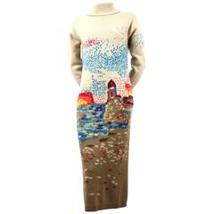 Hanae Mori Nouvelle Couture Cashmere Dress