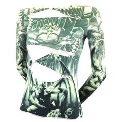 Jean Paul Gaultier Slashed and Laced Winged Demon Top