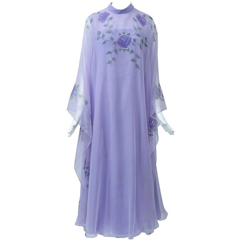 Lavender Caftan Gown