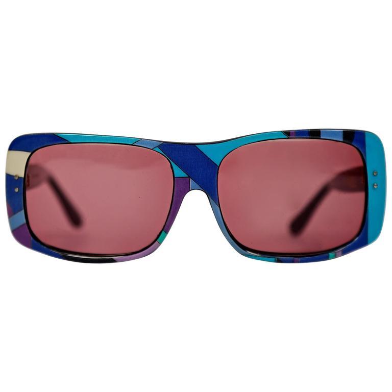 rare 1960's EMILIO PUCCI oversized sunglasses For Sale