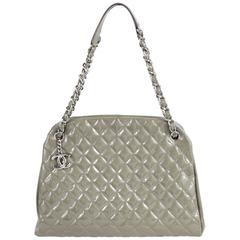 CHANEL Just Mademoiselle Large Patent Bowler Satchel