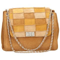 Chanel Patchwork Suede Shoulderbag
