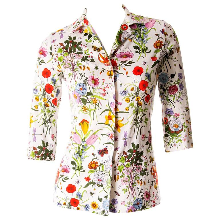 Gucci V. Accornero Iconic Flora Print Shirt 1