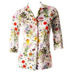 Gucci V. Accornero Iconic Flora Print Shirt