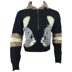 Pop Art Cropped Vintage Mohair Sweater by J. C. Castelbajac.