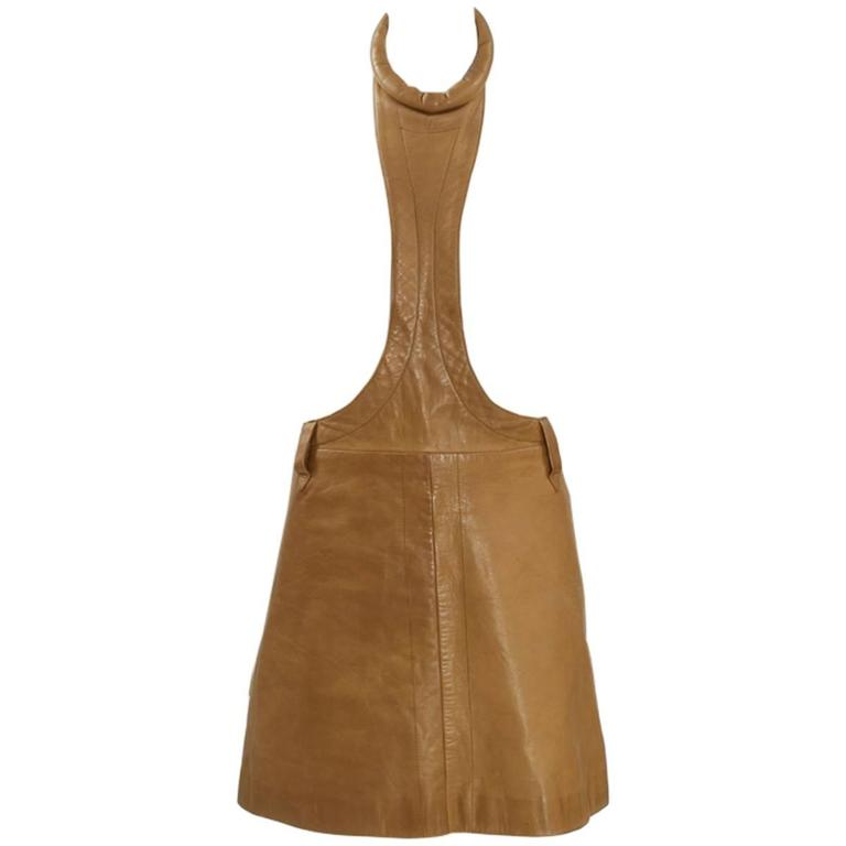 Pierre Cardin Space Age Leather Mini Dress For Sale