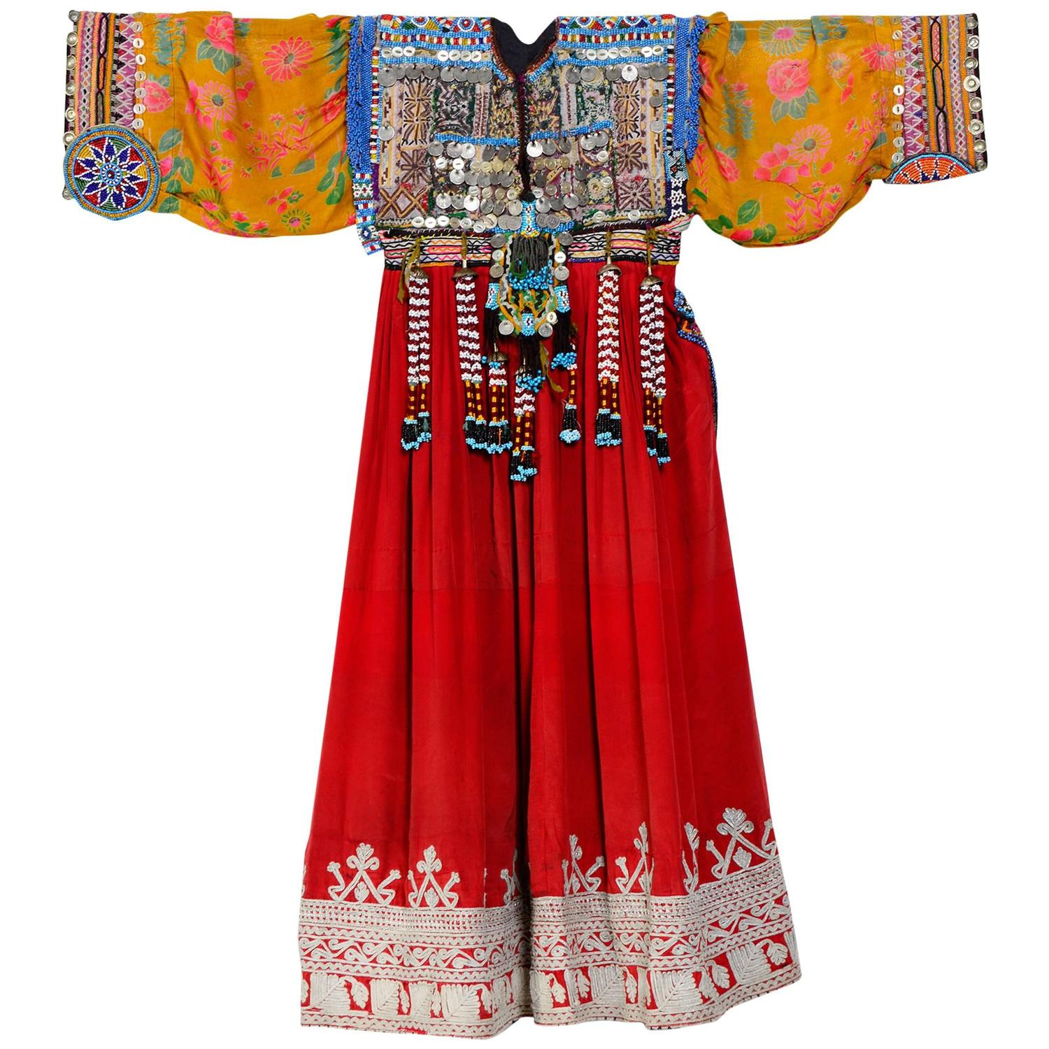 Vintage Afghan Kuchi Nomade Dress At 1stdibs