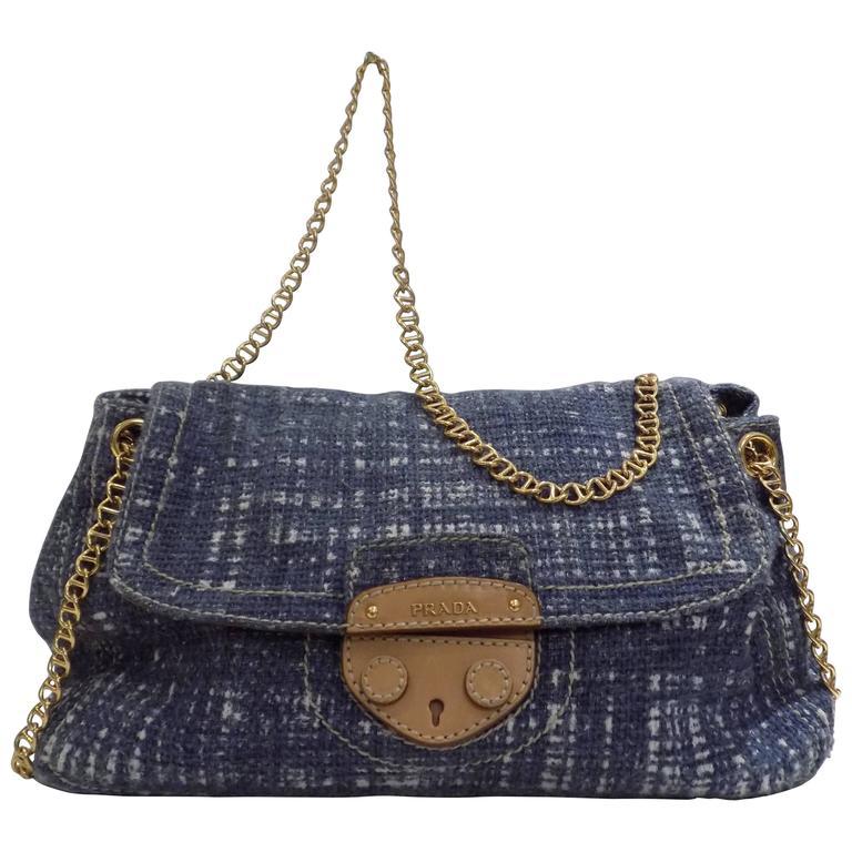 2010s Prada denim Tweed Bag