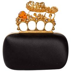 Alexander McQueen Butterfly Knuckle-Duster Box Clutch Bag